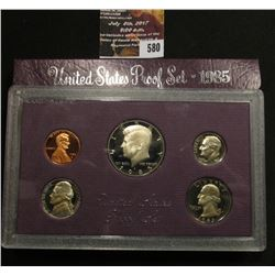 580.1985 S U.S. Proof Set, original as issued.