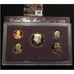 583.1989 S U.S. Proof Set, original as issued.