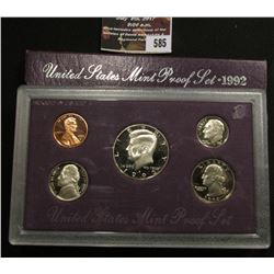 585.1992 S U.S. Proof Set, original as issued.