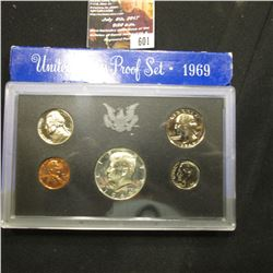 601.1969 S U.S. Silver Proof Set, original as issued.