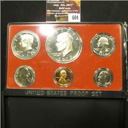 604.1973 S U.S. Proof Set, original box of issue, which is a little rough.