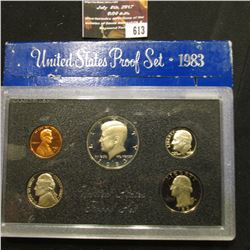 613.1983 S U.S. Proof Set, original as issued.