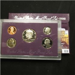 616.1990 S U.S. Proof Set, original as issued.