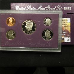 617.1993 S U.S. Proof Set, original as issued.