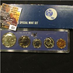 631.1967 United States Silver Special Mint Set in original case of issue.