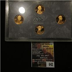 642.2009 S U.S. Proof Four-Piece Lincoln Cent Set, in original plastic case as issued.