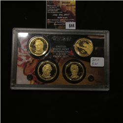 644.2010 S U.S. Mint Presidential One Dollar Coin Proof Set in original hard plastic case, no box.