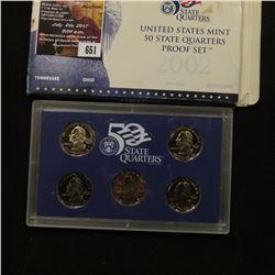 651.2002 S United States Mint America the Beautiful Quarters Proof Set, Original as issued.