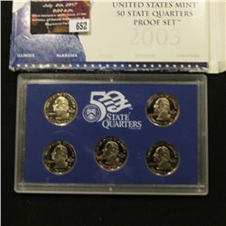 652.2003 S United States Mint America the Beautiful Quarters Proof Set, Original as issued.