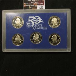653.2004 S United States Mint America the Beautiful Quarters Proof Set, In original plastic case as