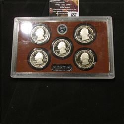 657.2013 S United States Mint America the Beautiful Quarters Proof Set, In original plastic case as
