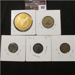 665.(5) Miscellaneous tokens or oddities, including a Reader's Digest medal.