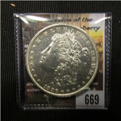 669.1896 P Morgan Silver Dollar, Brilliant Uncirculated.