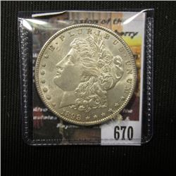 670.1898 P Morgan Silver Dollar, Brilliant Uncirculated.