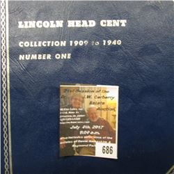 686.Nearly complete 1909-40 Lincoln Cent Set. Missing only the 1909S VDB, 1909S, 11S, 14D, 18S, 31S,