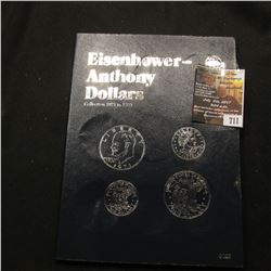 "711.Like new Whitman Coin Folder No. 9023 ""Eisenhower-Anthony Dollars Collection 1971 to 1999"", incl"