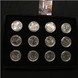 712.2009 Twelve-piece Set of Trust Territories Commemorative Quarters in a special case and airtight