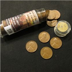 719.1950 D Solid Date Roll of Lincoln Cents, Average circulated.