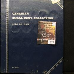779.1921-67 Partial Set of Canada Cents in a Whitman folder.
