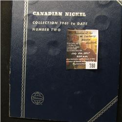 780.Partial Set of Canada Nickels dating back to 1937 in a blue Whitman folder.