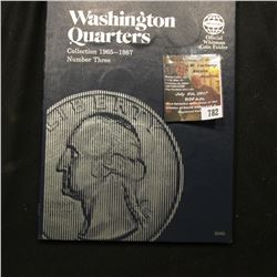 782.1965-87 Partial Set of Washington Quarters in a blue Whitman folder. ($8.25 face value).