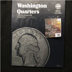 783.1988-98 Partial Set of Washington Quarters in a blue Whitman folder.