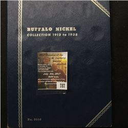787.1920-30 Partial Set of Buffalo Nickels in a blue Whitman folder.