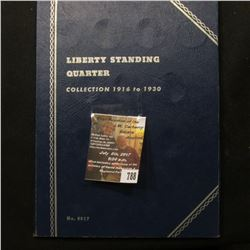 788.1925-30 Partial Set of Standing Liberty Quarters in a blue Whitman folder.