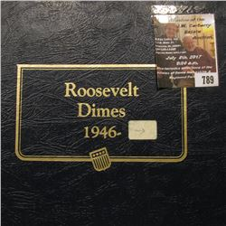 789.1965-1995 Partial Set of Roosevelt Dimes, including Proofs, in a blue Whitman album. A very nice