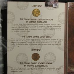 790.2000 P & D Millennium Native American Dollar Coin Folder with (5) Coins. BU.