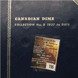 795.1938-71 Nearly complete Set of Canada Dime including lots of Silver.