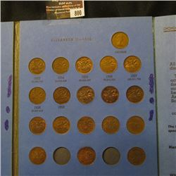 800.1921-75 Partial Set of Canadian Cents in a blue Whitman folder.