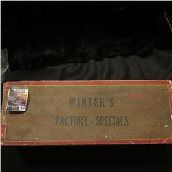 "812.15"" x 5.5"" x 3.25"" Old Cigar Box ""Winter's Factory-Specials 2 for 5c""."