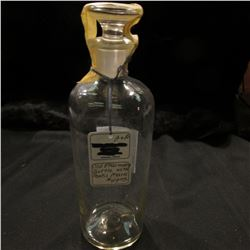818.Handblown old Pharmacy Bottle with Pontil Mark. Includes glass stopper. 'Doc' valued this at $49