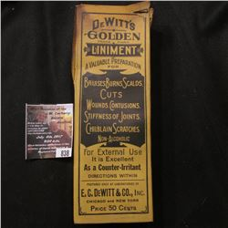 "838.Empty Quack Doctor box ""DeWitt's Liniment A Valuable Preparation for …""; a genuine North Carolin"