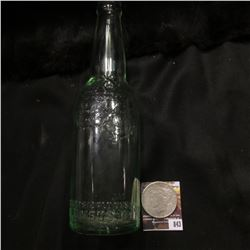 "843.9.5"" Depression Green glass bottle ""Wagner Thats the Product Columbus, O.""; & 1922 S U.S. Peace"
