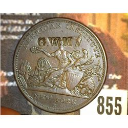 "855.1833 Hard Times Token Counter marked ""G.W.M."""