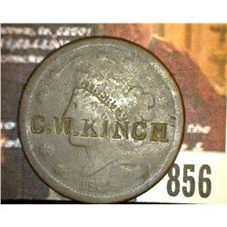 "856.1838 US Large Cent Counter marked ""W. Kingh"""