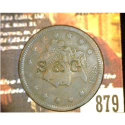 "879.1838 US Large Cent Counter marked "" S&G""."