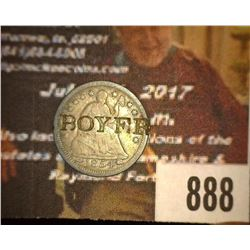 "888.1854 Arrows Half Dime Counter marked ""Boyer""."