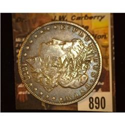 "890.1878 Morgan Dollar Counter marked ""D.W. Evans""."