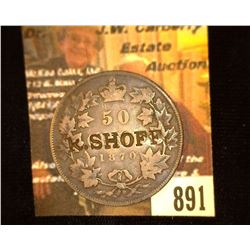 "891.1870 Canada Half Dollar Counter marked ""R. Shoff""."