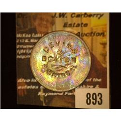 "893.1837 Montreal Canada Bank Token Counter marked ""Devons & Bolton Montreal""."