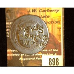 "898.French Coin with Counterstamp "" Mays Washing Powder"" Advertising Coin."