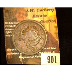 "901.1848 US Large Cent Counterstamp "" Dr. G.G. Wilkins""."