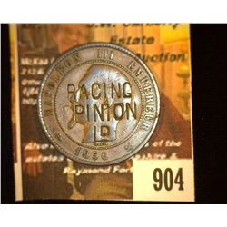 "904.1856 French Dix Centimes Counter marked ""Racing Opinion"" Advertising."