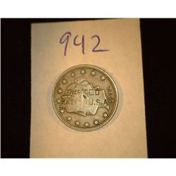 "942.1912 US Liberty Head Nickel Counter marked ""Tested Made in USA""."