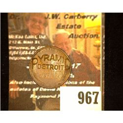"967.1950 D Lincoln Cent Counterstamp ""Pyramid/Detroit"", believed to be Pyramid Stamp & Tool of Detro"