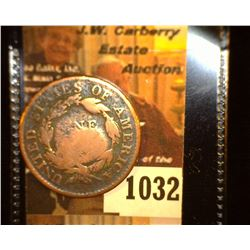 "1032.         1819 U.S. Large Cent c/s ""MS""."