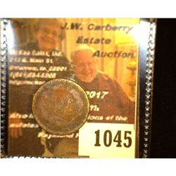 "1045.         1863 Indian Head Cent, c/s ""W"""